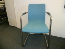 Second Hand Skandiform Chrome Framed Cantilever Side Chair